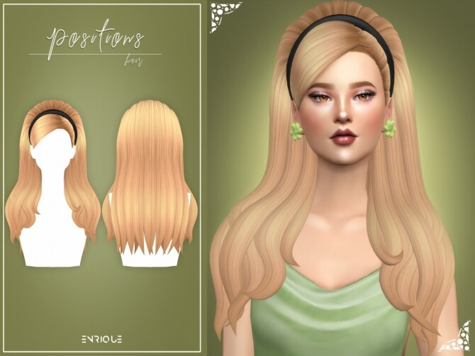 Sims 4 Positions Hair, Earrings and Headband at Enriques4