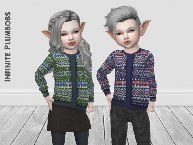 IP Toddler Christmas Knit Cardigan by InfinitePlumbobs