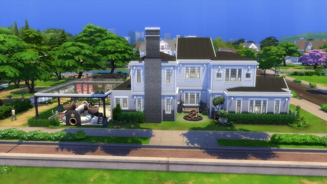 Sims 4 Luxury Legacy Mansion by MarVlachou at Mod The Sims