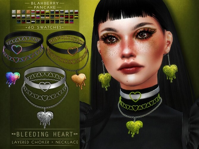 Sims 4 Bleeding Heart Set at Blahberry Pancake