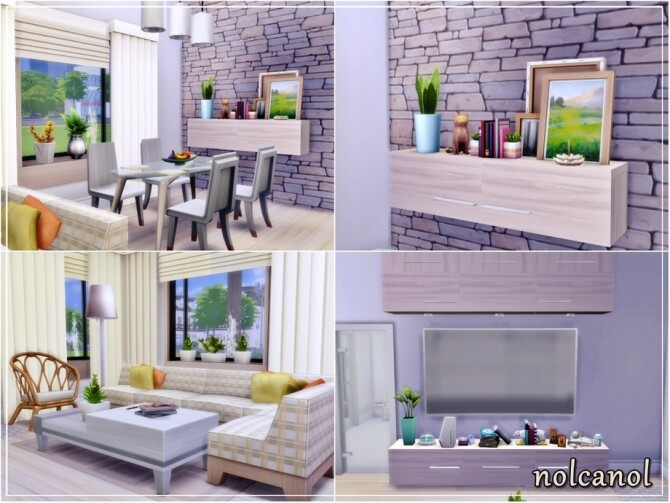 Sims 4 Emily Kimm Home by nolcanol at TSR