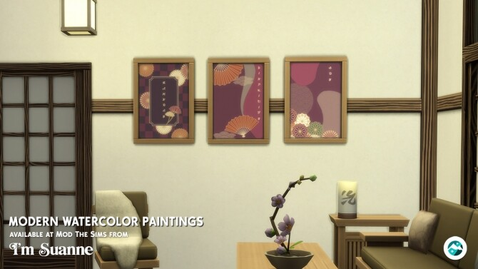 Sims 4 Modern Watercolor by ImSuanne at Mod The Sims