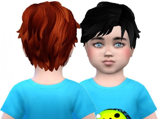 Sims 4 Toddler male hair 01 and 02 re textures at Trudie55