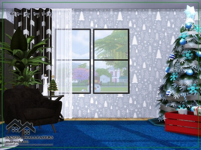Sims 4 Sanos Wallpapers Holiday Wonderland by marychabb at TSR
