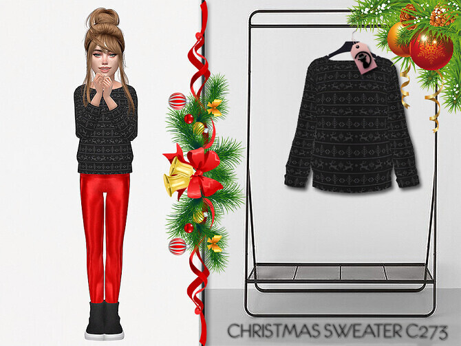 Sims 4 Christmas Sweater C273 by turksimmer at TSR