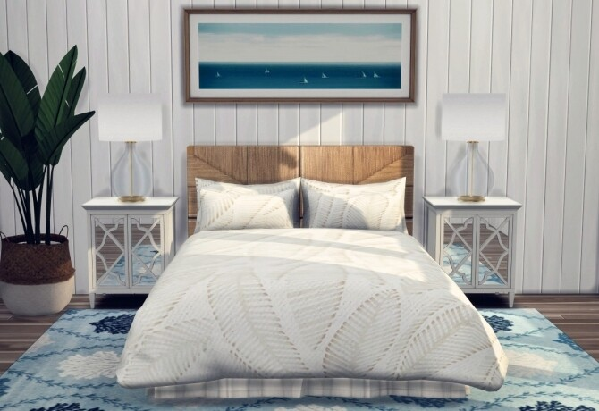 Sims 4 Bright Coastal Collection Bedding at Sooky