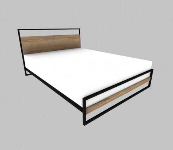 Wood Metal Bed