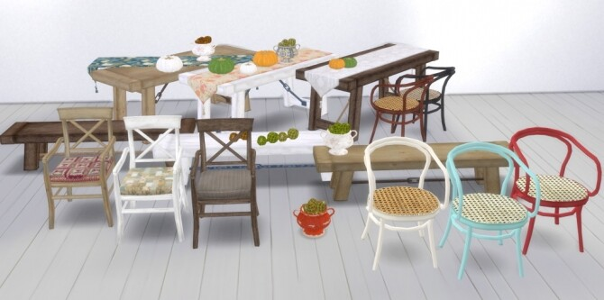 Sims 4 Autumn Dining set at Garden Breeze Sims 4