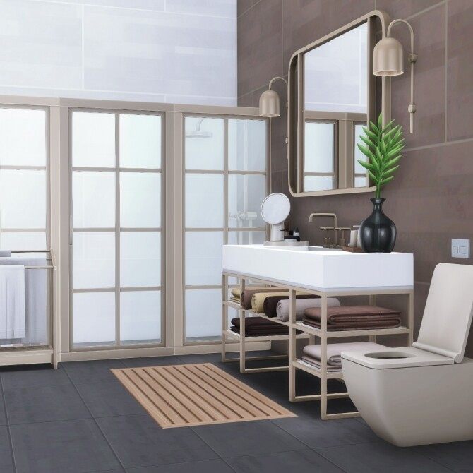 Sims 4 Hudson Bathroom Collection of 31 New Items at Simsational Designs