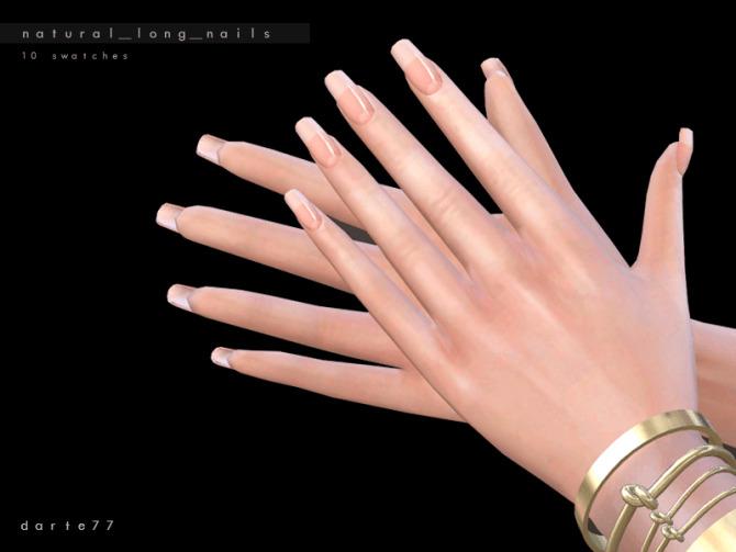 Sims 4 Natural Long Nails by Darte77 at TSR