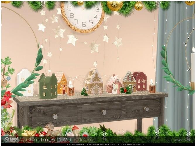 Sims 4 Christmas 2020 decorative set by Severinka at TSR