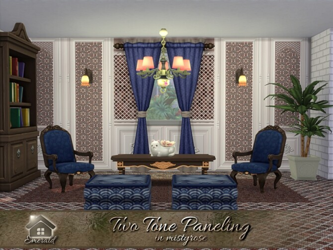 Sims 4 Two Tone Paneling in mistyrose by emerald at TSR