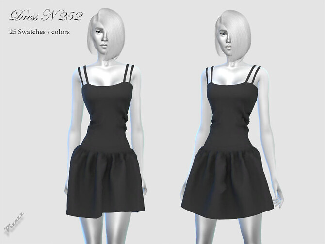 Sims 4 DRESS N 252 by pizazz at TSR