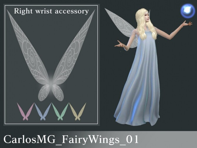 Sims 4 Fairy Wings 01 by CarlosMG at TSR