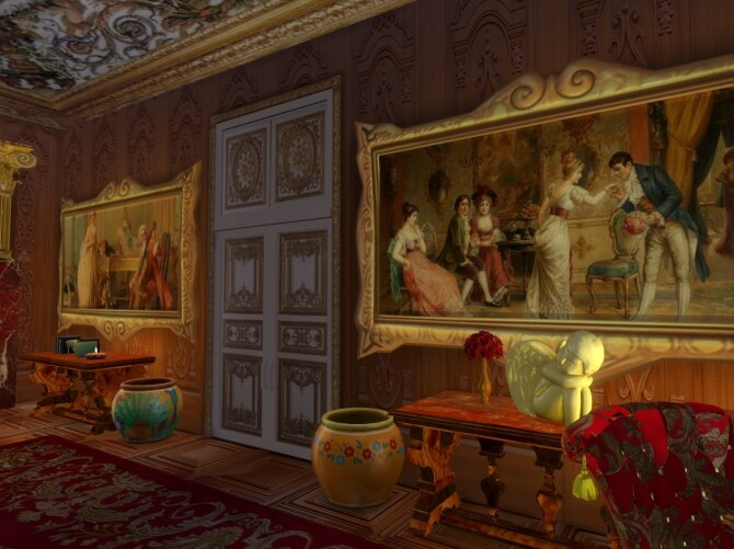 Sims 4 Palace Dining Set & Paintings at Anna Quinn Stories