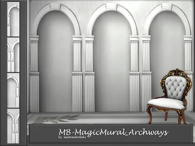Sims 4 MB Magic Mural Archways by matomibotaki at TSR