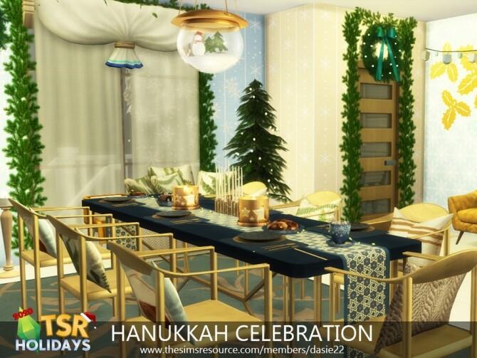 Sims 4 HANUKKAH CELEBRATION HOLIDAY WONDERLAND by dasie2 at TSR