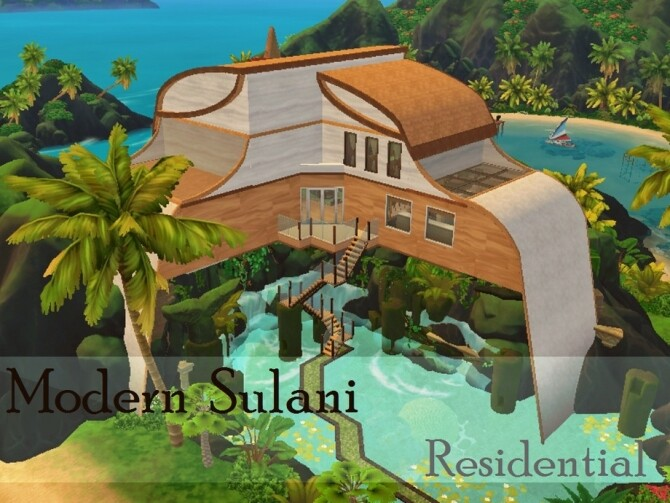 Sims 4 Modern Sulani Home by Anny M.4 at TSR