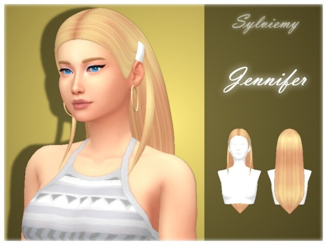Sims 4 Jennifer Hairstyle Set by Sylviemy at TSR