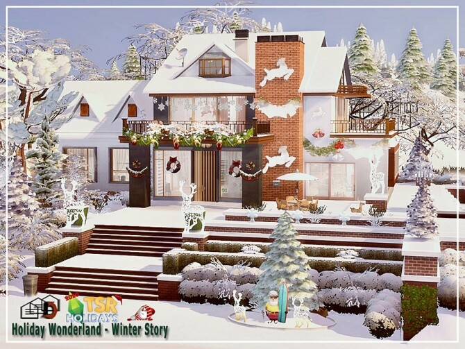 Sims 4 Winter story house Holiday Wonderland by Danuta720 at TSR