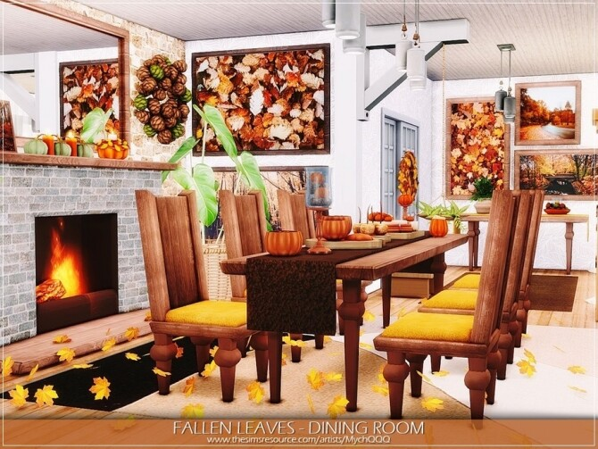 Fallen Leaves Dining Room by MychQQQ