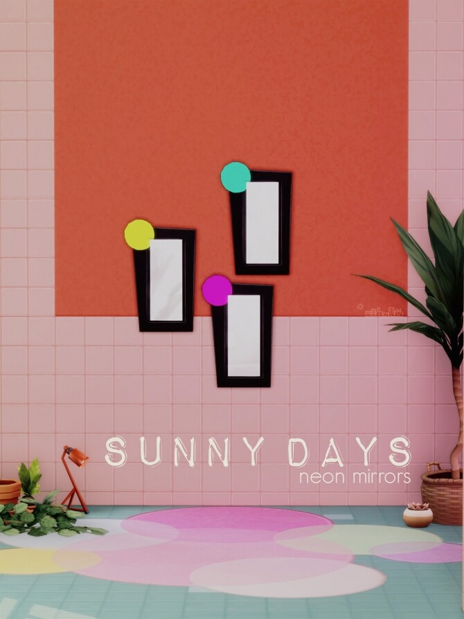 Sims 4 SUNNY DAYS NEON MIRROR at Picture Amoebae