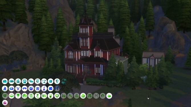 Sims 4 Sinister Gothic Victorian Home at SimKat Builds