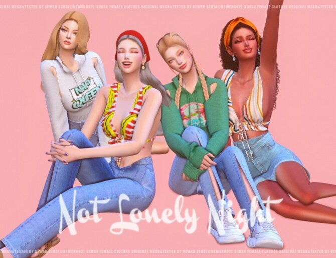 Sims 4 Not Lonely Night Set at NEWEN