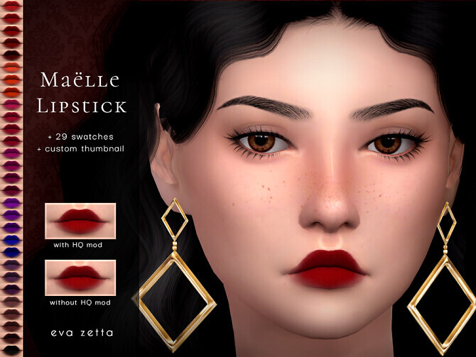 Sims 4 Maelle Lipstick by Eva Zetta at TSR
