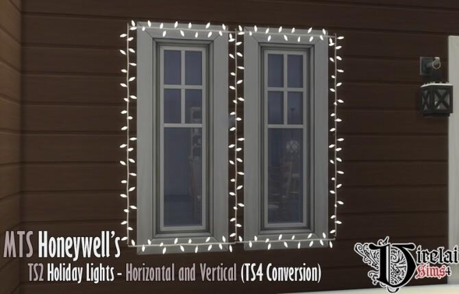 Sims 4 Honeywell's Holiday Roof Lights set conversion at Virelai