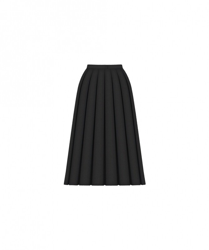 Sims 4 High Waist Pleated Skirt at Happy Life Sims