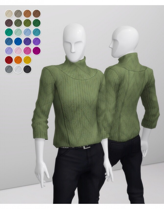 Sims 4 Basic Sweater For M III at Rusty Nail
