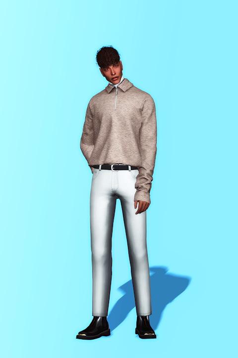 Sims 4 Collar Sweatshirt & Turtleneck at Gorilla