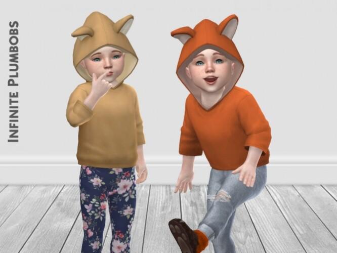 IP Toddler Animal Ear Hoodie by InfinitePlumbobs
