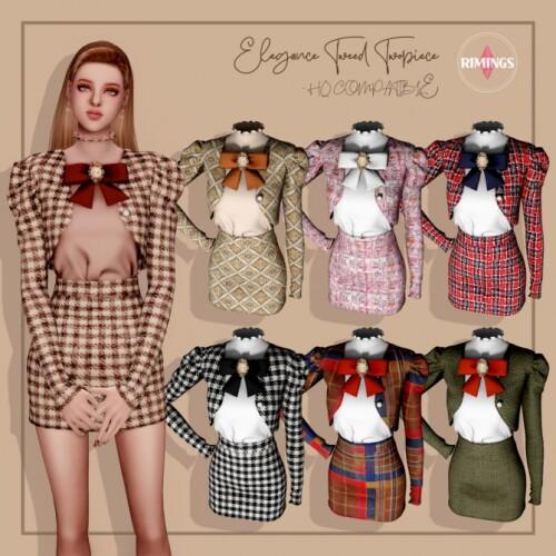 Elegance Tweed Twopiece
