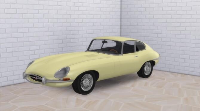Sims 4 1961 Jaguar E Type at Modern Crafter CC