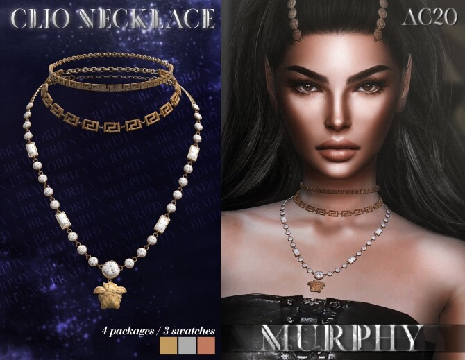Sims 4 Clio Necklace by Silence Bradford at MURPHY