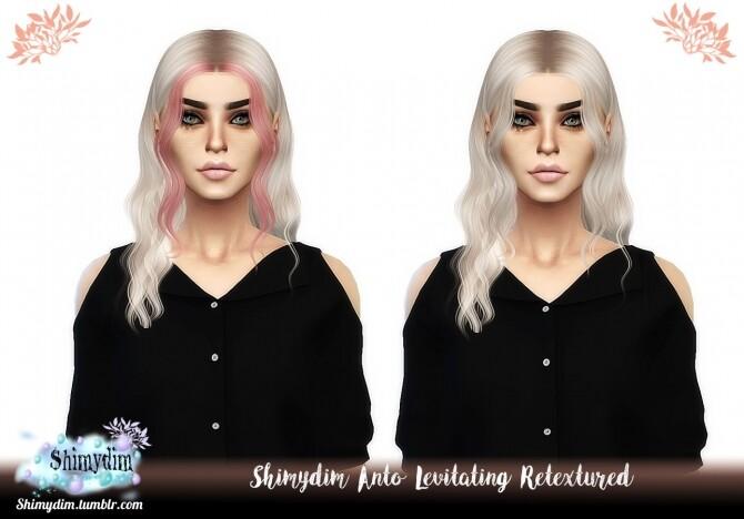 Sims 4 Anto Levitating Hair Retexture at Shimydim Sims