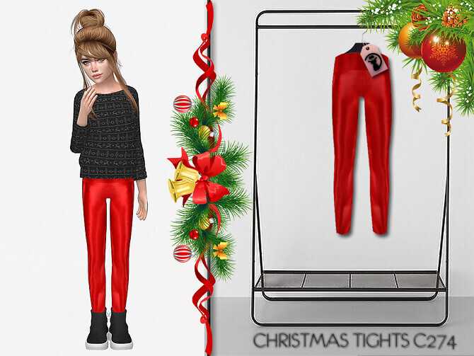 Sims 4 Christmas Tights C274 by turksimmer at TSR
