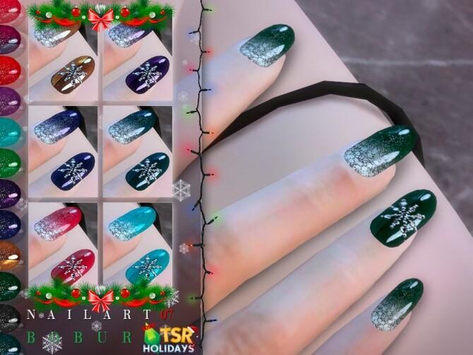 Sims 4 Holiday Wonderland Nails 07 by Bobur at TSR