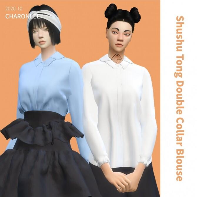 Shushu Tong Double Collar Blouse