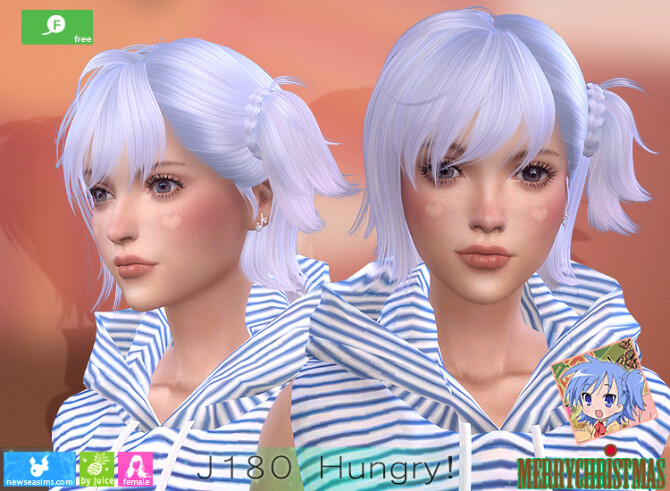 Sims 4 J180 Hungry hair at Newsea Sims 4