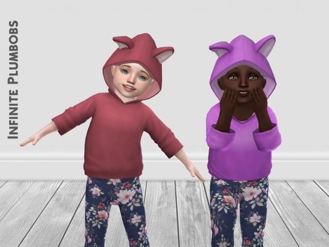 Sims 4 IP Toddler Animal Ear Hoodie by InfinitePlumbobs at TSR