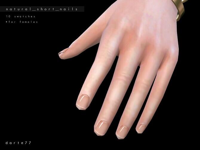 Sims 4 Natural Short Nails by Darte77 at TSR