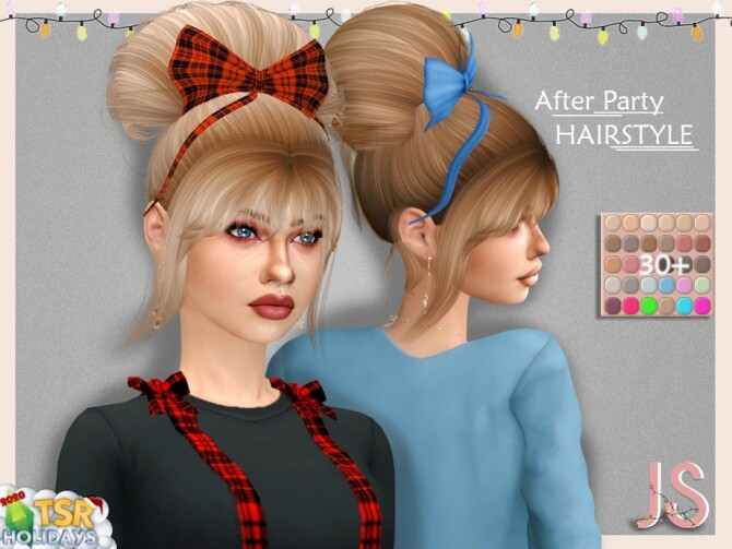 After Party Hairstyle Holiday Wonderland by JavaSims