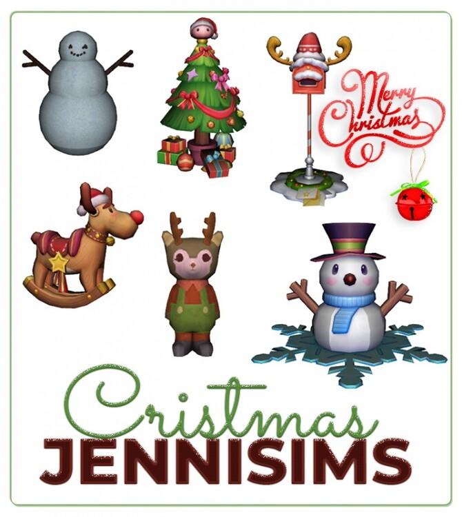 Sims 4 DECORATIVES XMAS 6 ITEMS at Jenni Sims