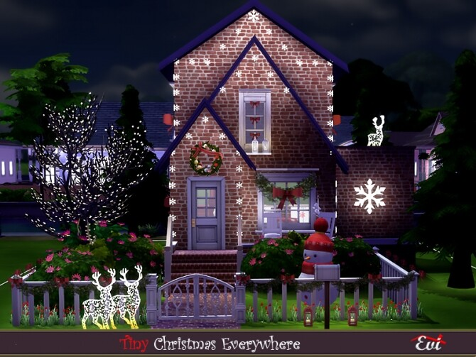 Sims 4 Christmas everywhere by evi at TSR