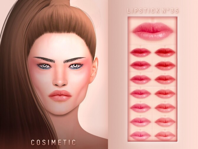 Sims 4 Lipstick N35 by cosimetic at TSR