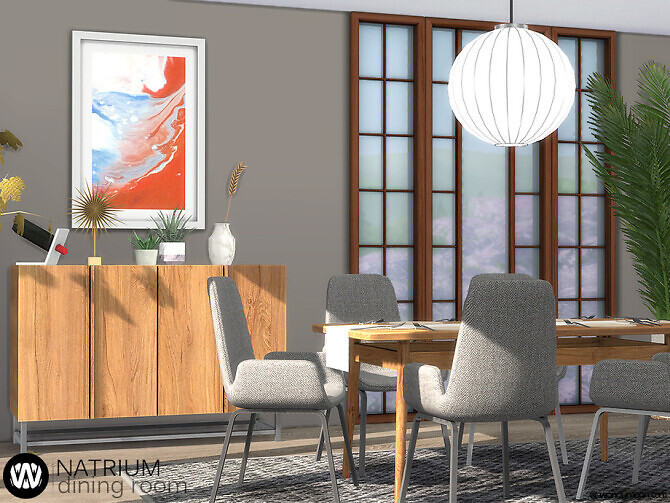 Sims 4 Natrium Dining Room by wondymoon at TSR