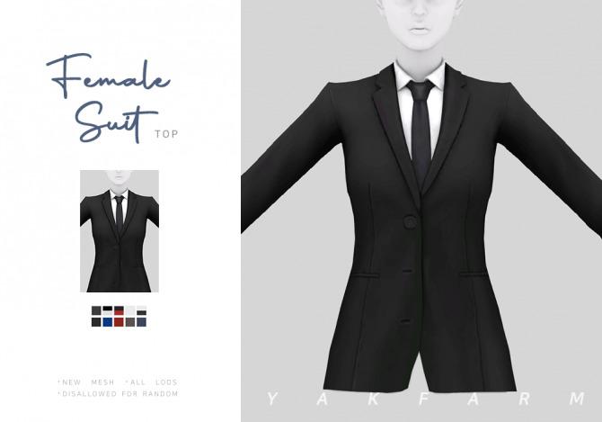 Sims 4 Suit Blazer Top at Yakfarm